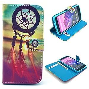 ATQ® Portefeuille PU Cuir Stand Flip Shell Housse Coque Étui Case Cover Pour Google LG Nexus 5 (Beautiful Dream Catcher) de Gratuit stylet l'écran aléatoire universelle