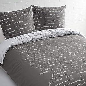 Daydream-Text de Funda nórdica lits-jumeaux, 68185u, Gris