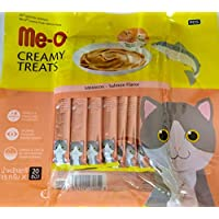 Me-O Fins Fur and Feathers Creamy Treat Salmon Flavor -Pack of 20 Sticks