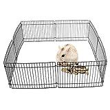 Jaula de Juegos para cobayas, Conejos, hámsteres, Mascotas, 8 Paneles, Interior y Exterior