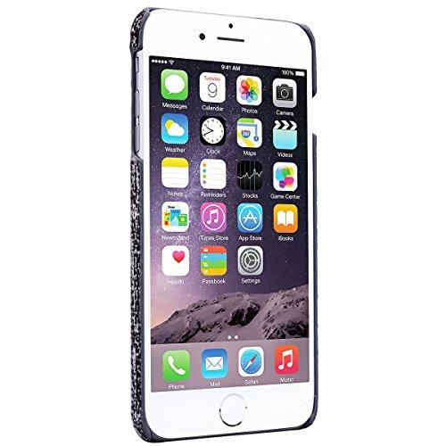 GrandEver iPhone 6/iPhone 6S(4.7 Zoll) Hartschale Hülle Bumper Hardcase Rückschale Schutzhülle Schwarz Hart Hüllen Dünne Ultra Slim Schutz Etui Rückseite Clear Case Protective Skin Cover Dünne Leicht  Schwarz