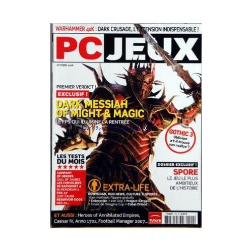 PC JEUX [No 102] du 01/10/2006 - WARHAMMER 40K - DARK CRUSADE - DARK MESSIAH OF MIGHT AND MAGIC - TESTS - SPORE - LE JEU LE PLUS AMBITIEUX DE L'HISTOIRE - EXTRA-LIFE