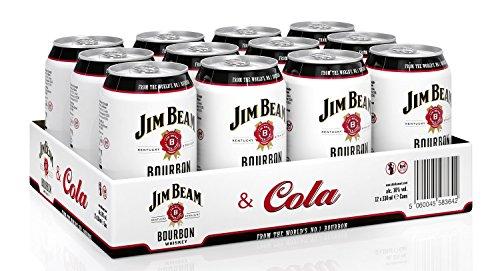 Jim Beam & Cola Bourbon Whiskey Dose, EINWEG (12 x 0.33 l)