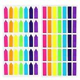 KINDPMA 1400 Piezas índices Adhesivos de Colores Flecha Marcadores Adhesivos Plástico Desmontable para El Estudio Enseñanza Notas de La Página Índice Marcador 2 Formas 7 Colores