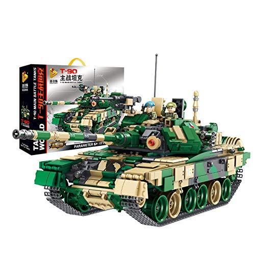 Yyz Military Series Russische T90 Kampfpanzer militärische Bausteine   Puzzle Montage Zauber Einsatz Spielzeug Geburtstagsgeschenk