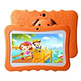 7 Pulgadas Tablet para Niños Android 8.1- Quad Core 1GB RAM 16GB ROM WiFi Bluetooth HD 1024x600 - Google Play Youtube y Control Parental Preinstalado - Naranja