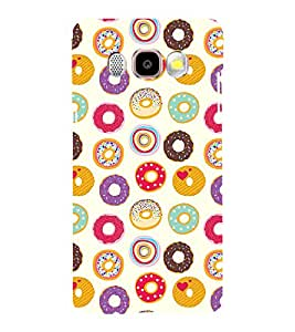 Printvisa Assorted Doughnut Pattern Back Case Cover for Samsung Galaxy J5 (2016)::Samsung J510F