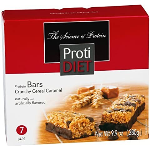 ProtiDiet Crunchy Cereal Caramel Bar - 9.9 oz - 7 Bars by Pro-Amino