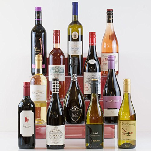 Natures Hampers 12 Luxury Vegan Wines in a Gift Box - Twelve Wine Set - Case of 12 - Vegetarian & Vegan - Birthday for Him - Birthday for Her - Christmas Gifts - Xmas Present