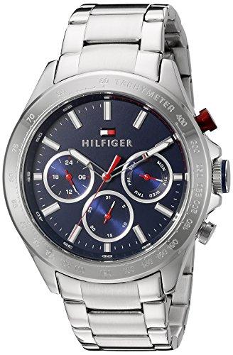 Tommy Hilfiger Men's 1791228 Hudson Analog Display Japanese Quartz Silver Watch