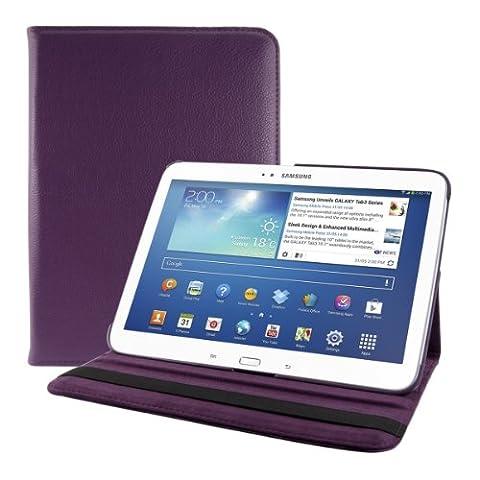 kwmobile Hülle für Samsung Galaxy Tab 3 10.1 - 360° Standfunktion Case Tablet Schutzhülle Kunstleder - Smart Cover Tabletcase Violett