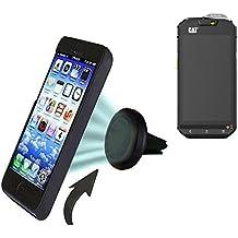 Coche universal del teléfono móvil / GPS / navegación titular del dispositivo por ejemplo, para Cat S60 ventilación Holder soporte de rejilla soporte para teléfono magnética Cat S60 Mini Car Air Vent titular Smartphone magnético. Fácil de instalar soporte magnético compacto para el coche. Sostiene a prueba de bombas y libre. Se puede utilizar con todos los teléfonos inteligentes. Por ejemplo, con la Cat S60 mano operable.