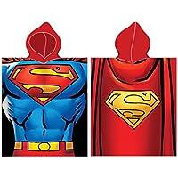 Superman Poncho 50x 115cm 100% algodón