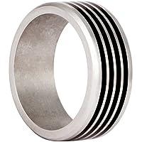 Uomo Bico Vapor 316L anello in acciaio con finitura nera con inserto (AR29)- Need For Speed - Speed acciaio
