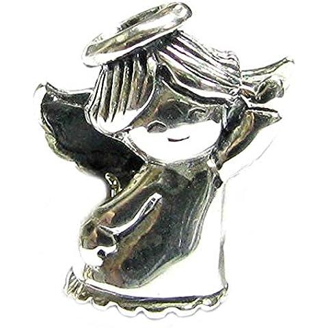 Queenberry Plata de Ley 3d Dancing Angel Girl Bead encanto de estilo europeo
