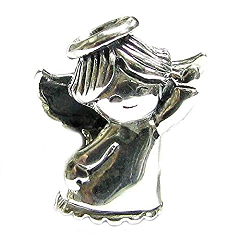 Sterling Silver Dancing Angel Happy Face Smile Bead by