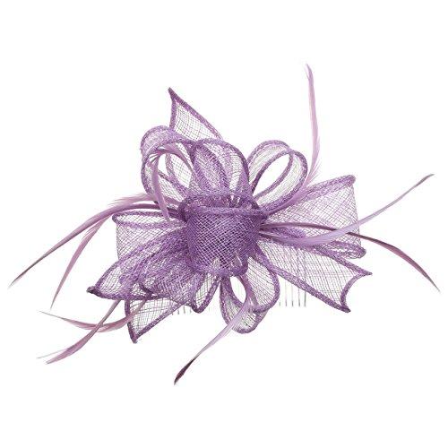 it Kamm Kopfschmuck Damen | Federschmuck Haarkamm Frühling-Sommer Herbst-Winter | One Size lila ()