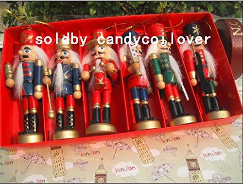 6 pièces par ensemble Casse-noisettes soldats, Casse-noisettes, 12 cm de haut, Casse-noisettes en bois faits main, Casse-noisettes de soldat, décor d'arbre de Noël