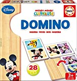 Educa Juegos - Disney Dominó de madera con motivo de Mickey y Minnie...