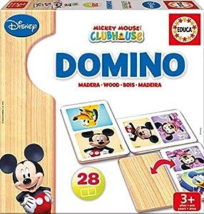 Educa Borrás Disney Dominó De Madera con Motivo De Mickey Y Minnie, Multicolor, Talla Única (16037)