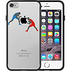 Funda iPhone 7, TrendyBox Transparente Negro Funda para iPhone 7 (Baloncesto)