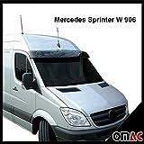 Sonnenblende Und Motorhaube Deflektor Kompatibel Mit Vw Crafter 2006 2012 Schwarz Set Auto