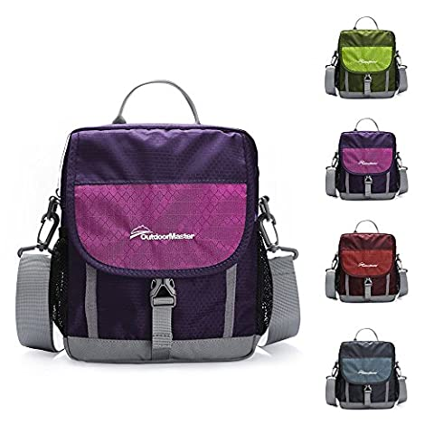 OutdoorMaster Shoulder Bag - Small & Light Crossbody Travel Purse for Men & Women (Purple)