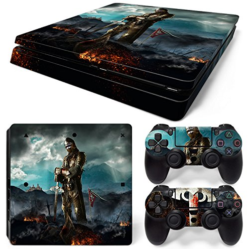 46 North Design Playstation 4 PS4 Slim Folie Skin Sticker Konsole Medieval Honor aus Vinyl-Folie Aufkleber Und 2 x Controller folie