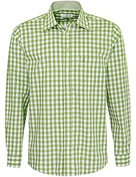 Almsach Trachtenhemd Fidelius Regular Fit in Hellgrün Inklusive Volksfestfinder