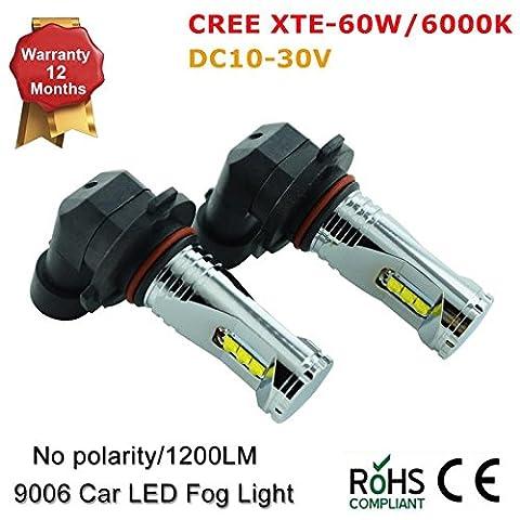 CREE XTE 9006HB4HB3900591456860W 6000K Auto LED Nebel Leuchtmittel Lampe (2Stück)