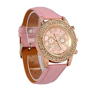 Atdoshop 071001AAJYK Atdoshop Leather Strap Women's Wrist Watch–White