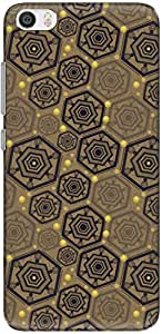 The Racoon Grip printed designer hard back mobile phone case cover for Xiaomi Mi 5. (Yellow Hex)