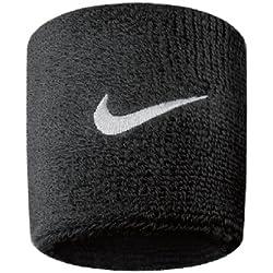 Nike Swoosh 3 - Muñequeras unisex, color negro, talla única