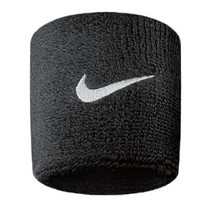 Nike Swoosh Wristbands (Black/White, Osfm)