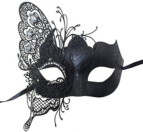 Geheimnisvolle venezianische Schmetterlings-glänzende Schmetterlings-Dame Masquerade (Coole Purge Kostüme)