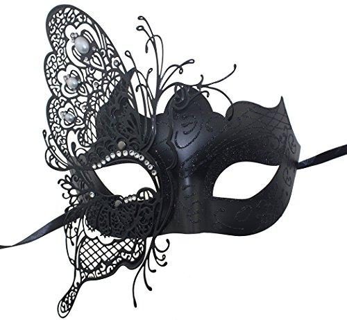 Geheimnisvolle venezianische Schmetterlings-glänzende Schmetterlings-Dame Masquerade Halloween-Karneval-Party-Maske (Die Purge 2 Maske)