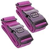 LS-LebenStil 2X Kofferband Koffergurt Zahlenschloss Pink Gepäck Koffer-Schloss 2 Stück