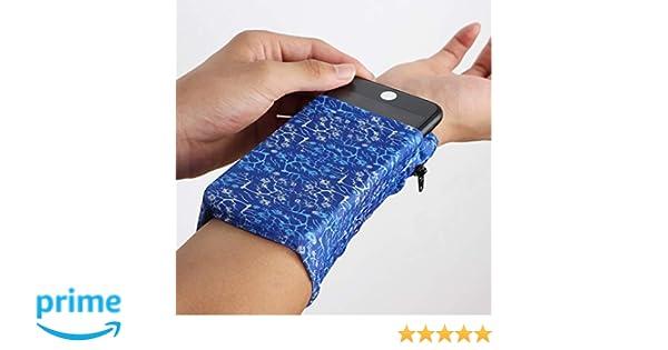 Lauftasche Armband Schwei/ßb/änder versteckte Tasche Clarmonde 2 Pocket Wrist Wallet Handgelenk Handyhalter Kn/öchel Geldb/örse