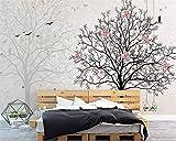 Photo papier peint personnalisé stéréo fleur ombrage en marbre grand arbre silhouette TV fond d'écran décoration de la maison peinture murale 3D papier peint de haute qualité-350x245cm