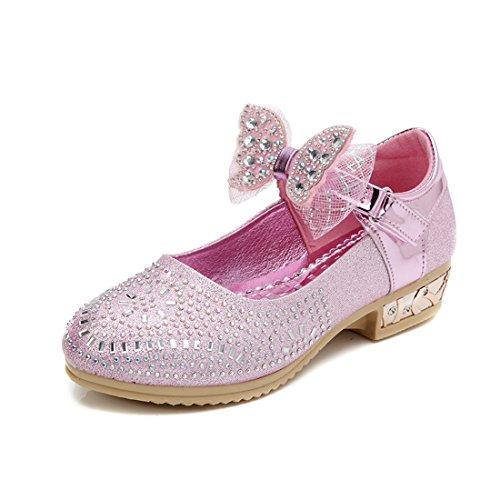 YIBLBOX Mädchen Kinder Gute Qualität Neueste Bowknot Design Schuhe Prinzessin Partei Schuhe Sandalen für Mädchen Kostüm Party - Neueste Kostüme Kinder