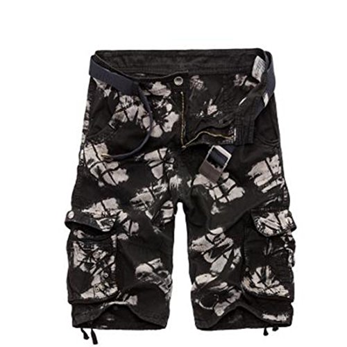 Men's Camouflage Tooling Optional Casual Shorts black Camouflage