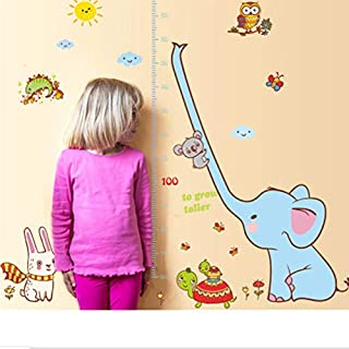 lsweia Diy Elephant Wall Stickers For Kids Rooms Creative Children Bedroom Height Posted Kindergarten Wall Stickers Adesivos De Parede