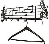 Kleiderhaken * Notenblatt * Flurgarderobe - Wandgarderobe - Notenlinien - 60 cm
