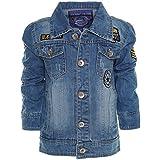 Kinder Jungen Jeans Jacke Mantel Sweat Übergangsjacke Blazer 21313, Farbe:Blau;Größe:104