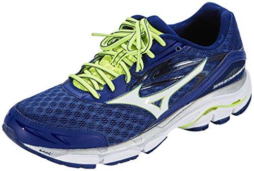Mizuno Wave Inspire 12, Chaussures de Running Compétition homme blue depth/white/safety yellow