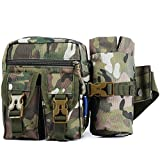 Made of nylon material, water resistant and scratch-resistant Package Size: 29cm x 19cm x 3cm (11.42in x 7.48in x 1.18in) 5L capacity bag, you can put the necessity while going out Adjustable buckle and expandable strap, breathable and comfortable to...