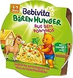 Bebivita Bären Hunger Spaghetti-Heu und Gartengemüse mit Erbsen und Hühnerfleischbällchen ab 1 Jahr, 250 g