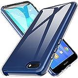 L K Custodia Huawei Y5 Prime 2018/Huawei Y5 2018/Huawei Honor 7s, Case in Morbido Silicone di Gel Antigraffio in TPU Ultra [Slim Thin] Cover Protettiva - Trasparente