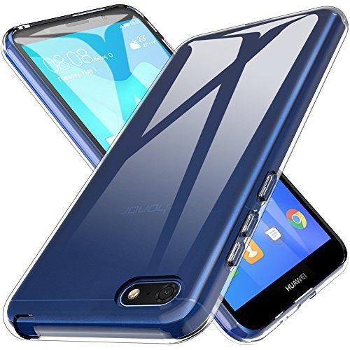 Galleria fotografica L K Custodia Huawei Y5 Prime 2018/Huawei Y5 2018/Huawei Honor 7s, Case in Morbido Silicone di Gel Antigraffio in TPU Ultra [Slim Thin] Cover Protettiva - Trasparente