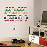 Space Invaders Wall Decal Art Sticker Lounge Living Room Bedroom Hall Small